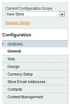 Configure new magento store settings